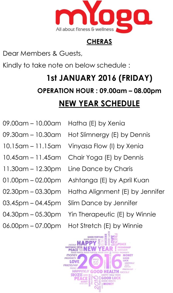 Cheras New Year Schedule-small